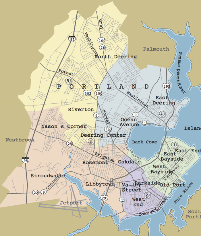 Portland Maine Neighborhood Map